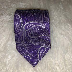 Donald J Trump Purple Silk Tie